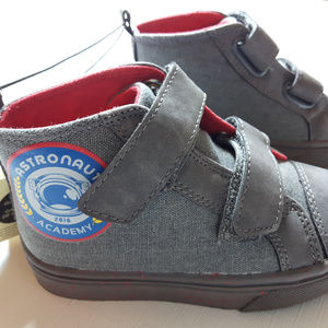 Astronaut Boys Booties Grey Velcro Boys Shoes